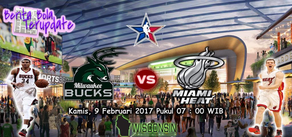 HarianBola77 - Prediksi Milwaukee Bucks Vs Miami Heats, Kamis 9 Februari 2017 - Pada pertandingan NBA 2017 kali ini antara Milwaukee Bucks melawan Miami Heats di Stadion Wisconsin pukul 07:00 WIB.